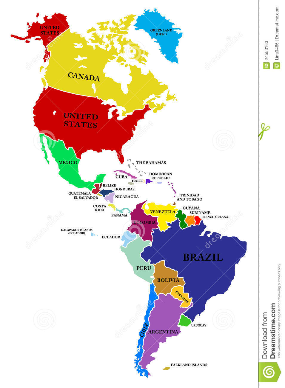 A Map North And South America Stock Illustration   Illustration of