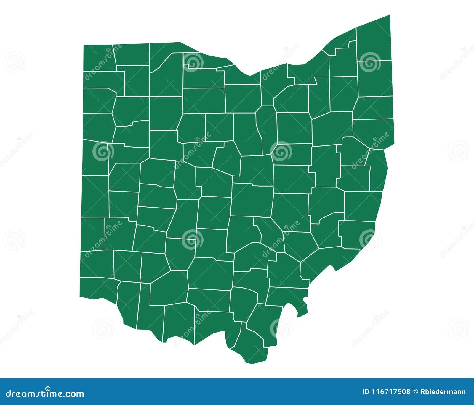 Map Of Ohio Stock Vector Illustration Of Line Region 116717508