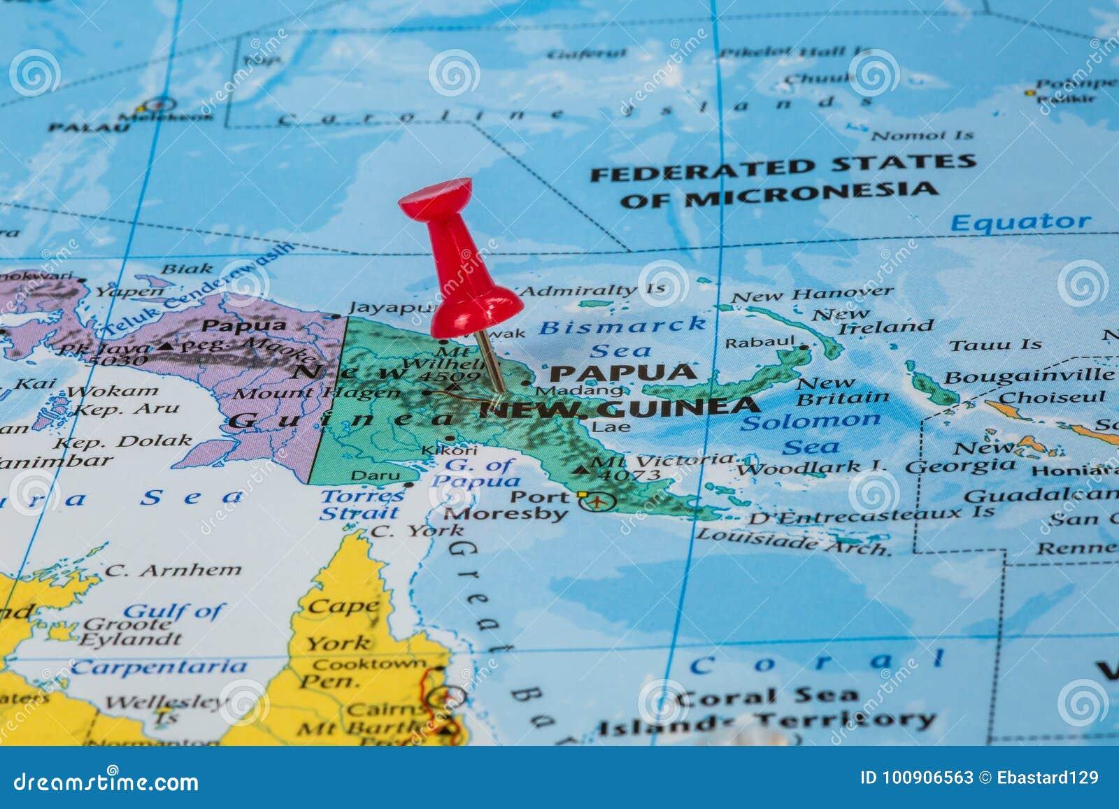 Map of Papua New Guinea stock image. Image of guinea - 100906563