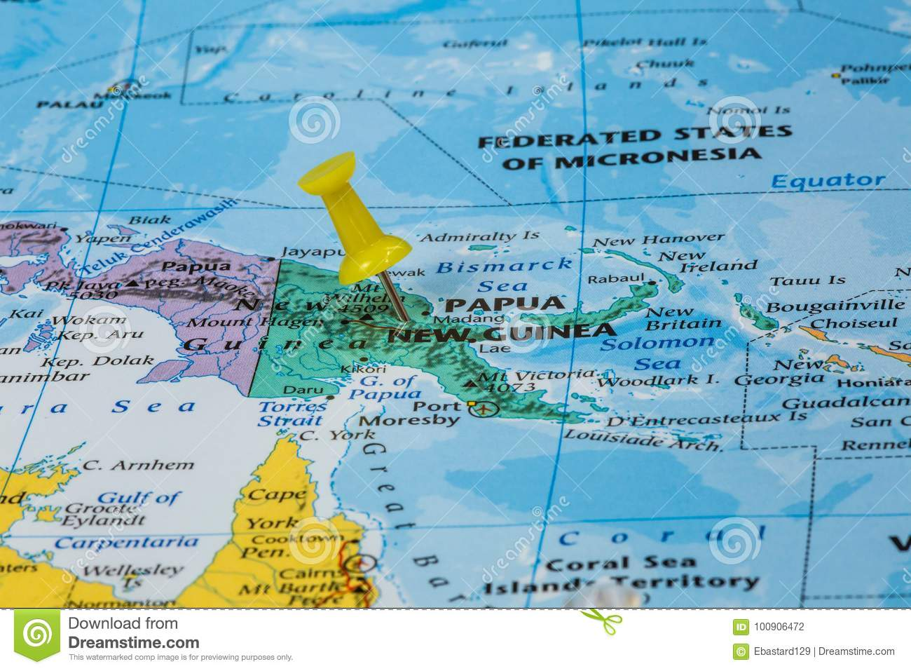 Map of Papua New Guinea stock photo. Image of nation - 100906472