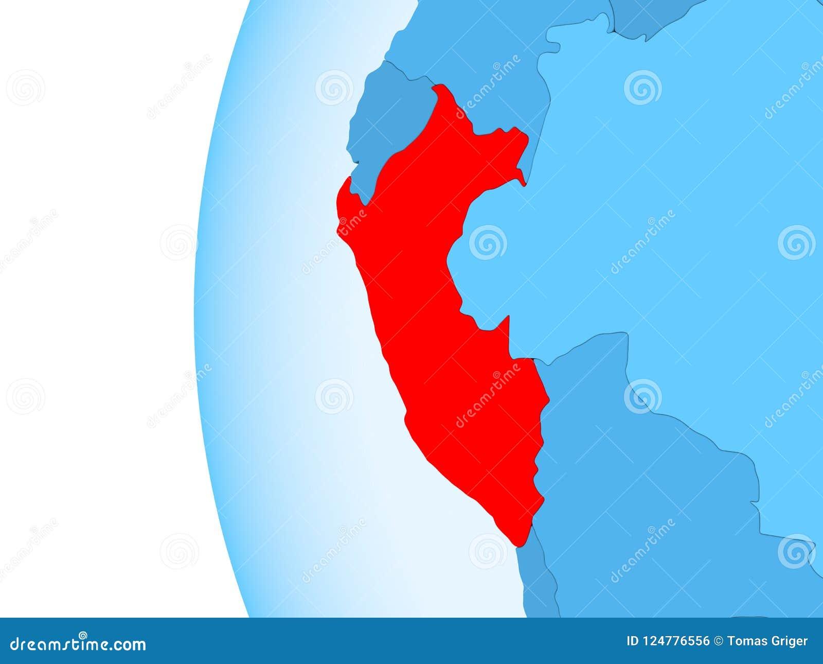 Map of Peru stock illustration. Illustration of peruvian ... Geopolitical Map Of Peru Peruvian on economic map of peru, topographical map of peru, geologic map of peru,