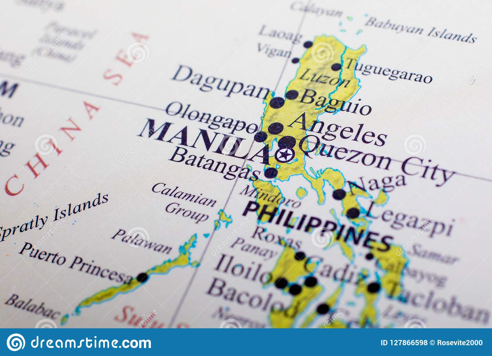 Map of Philippines stock photo. Image of manila, pacific - 127866598
