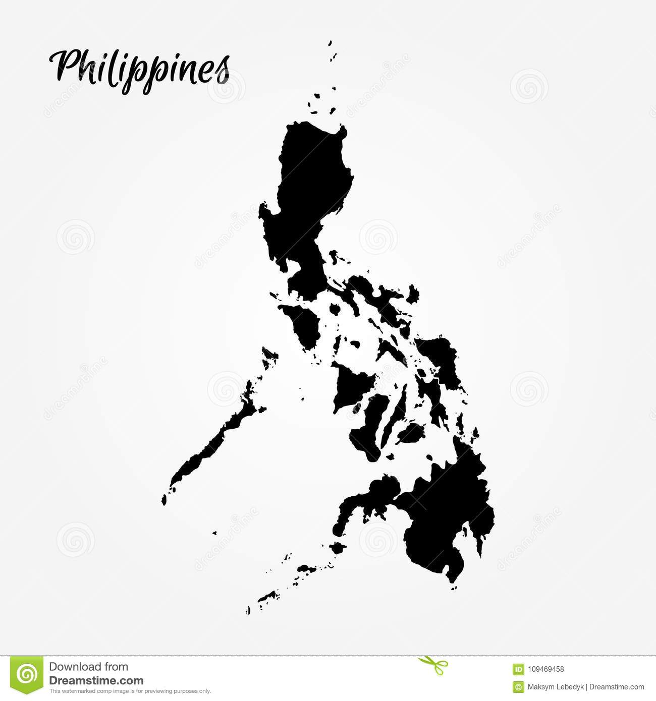 Map Of Philippines Stock Illustration Illustration Of Drawing
