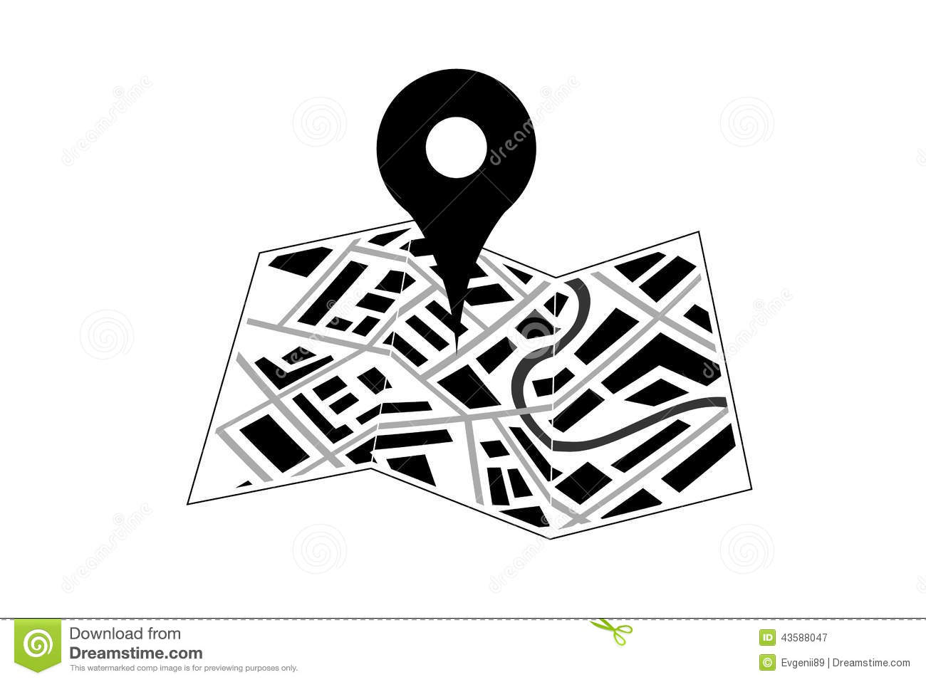Pin Location Map Free Vector Graphic On Pixabay: Map With Pin Icon Stock Vector