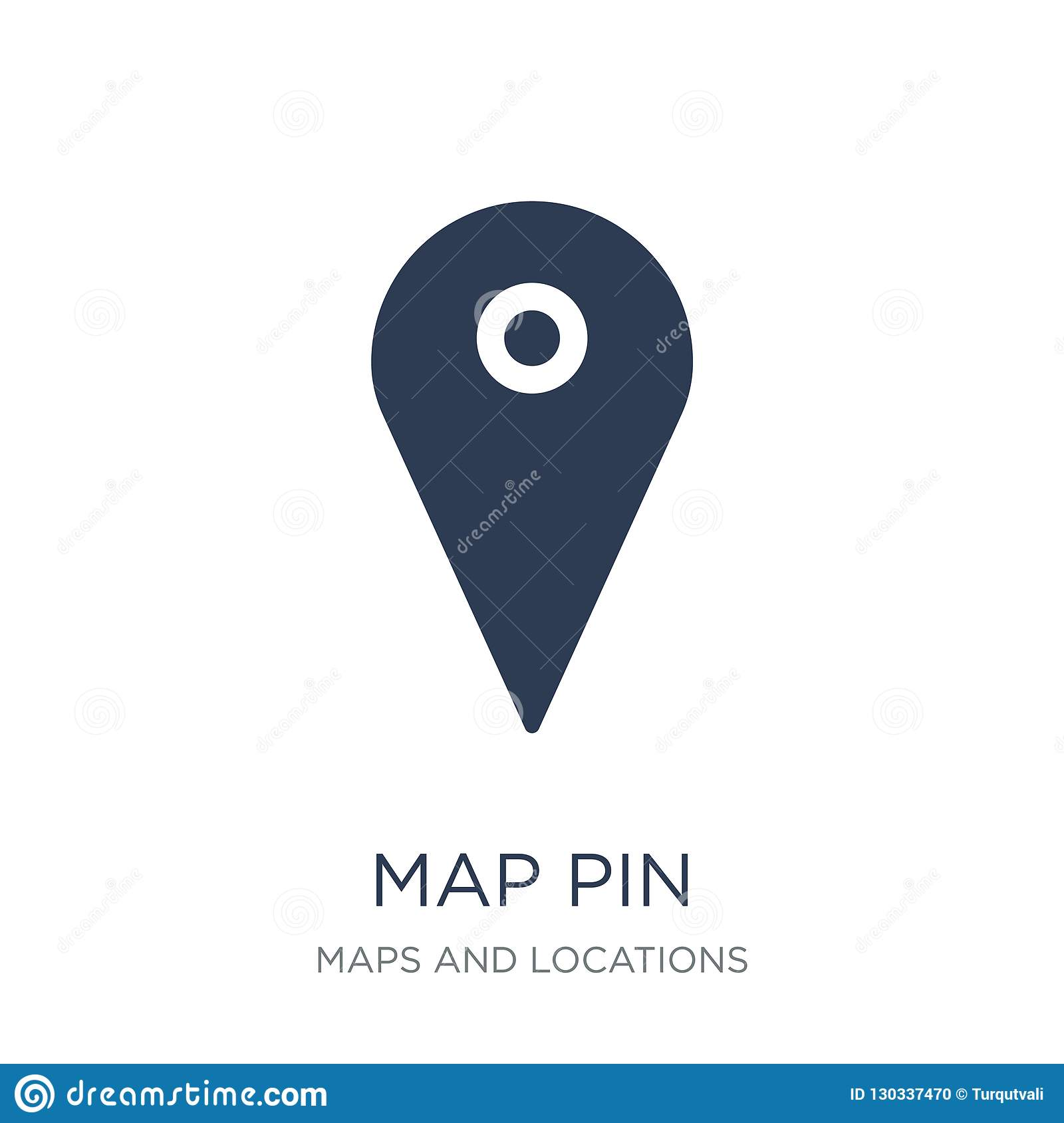 Map Pin icon. Trendy flat vector Map Pin icon on white background from Maps and Locations collection