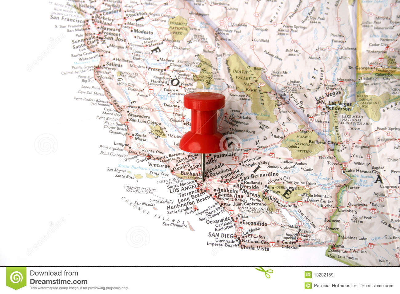 Map With Pin On Los Angeles Royalty Free Stock Images Image - Los angeles map download