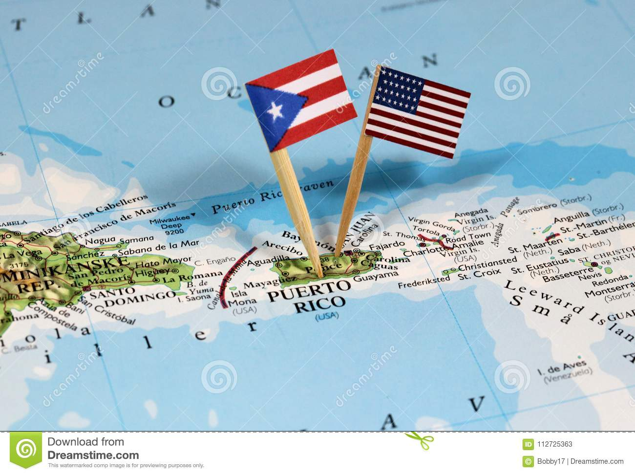 Map With Pin Point Of Puerto Rico Stock Image - Image of ...