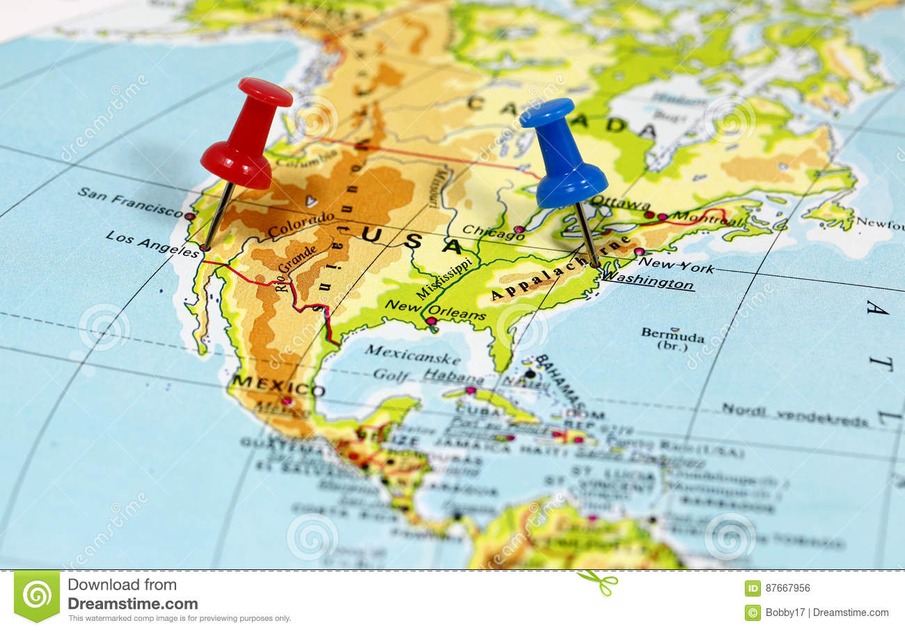 Map with pin point stock photo. Image of mexico, francisco - 87667956