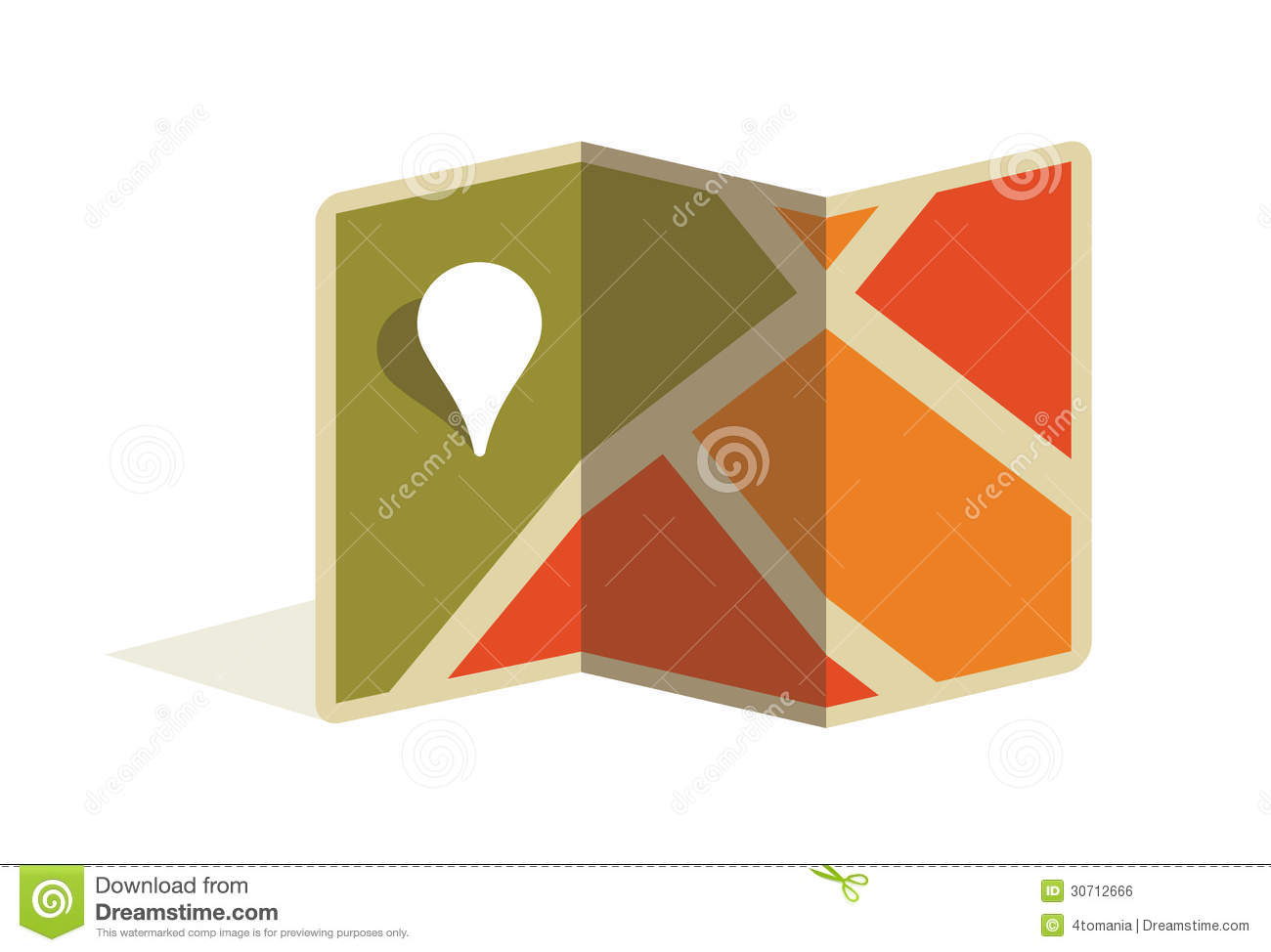 Free Google Maps Pointer Icon: Map And Pin Pointer. Vector Icon Illustration Royalty Free