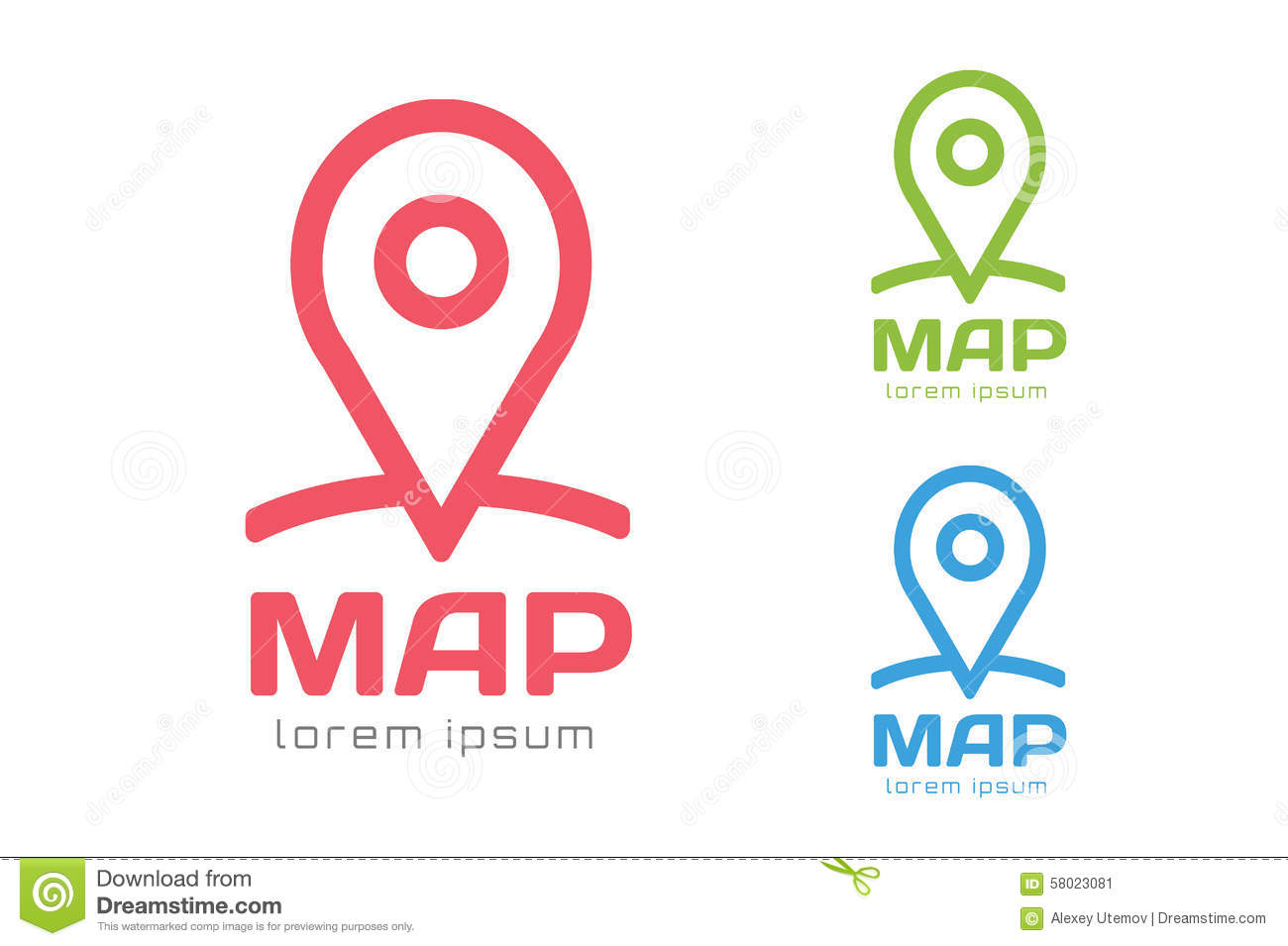 map pin vector logo icon template travel logo stock vector