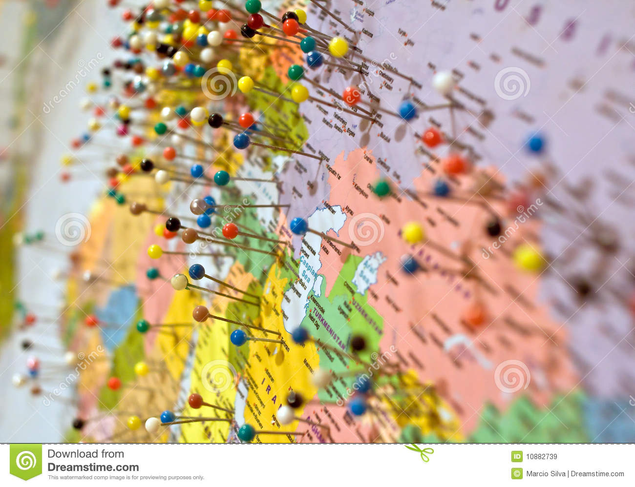 map and pins stock image  image of cartography  position