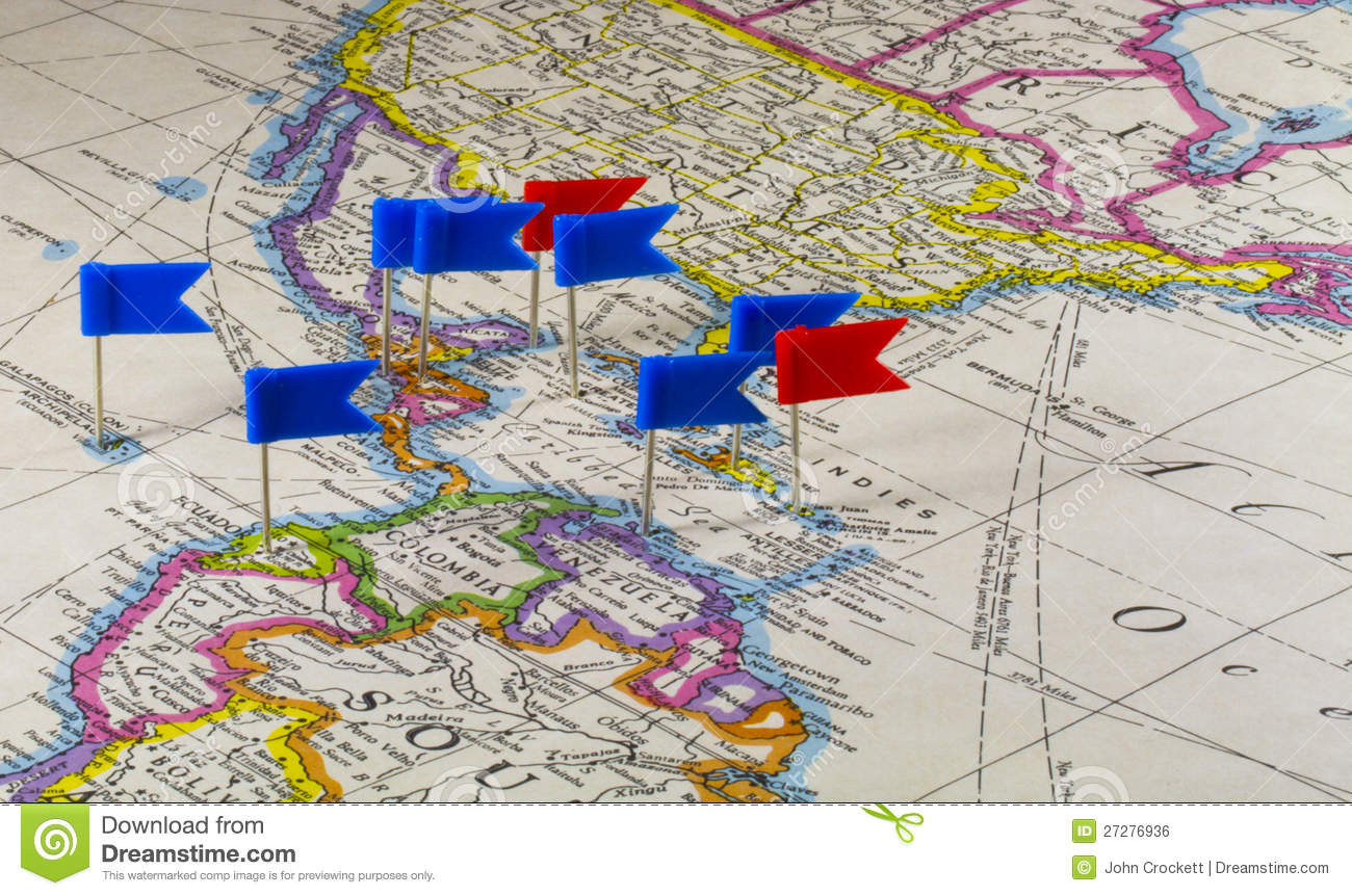 map with pins royalty free stock image