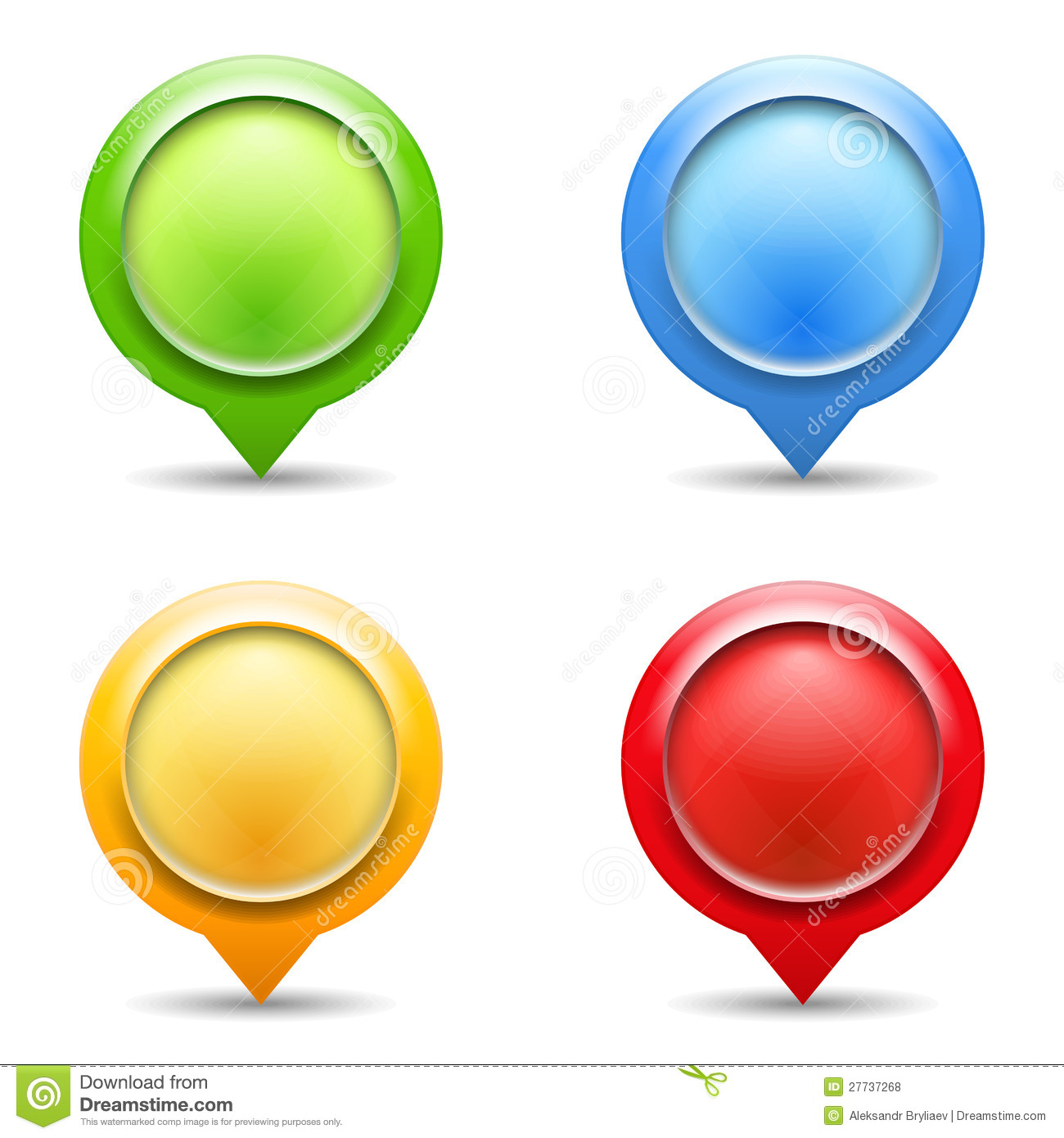 Map Pins With Images Stock Image - Image: 23867221