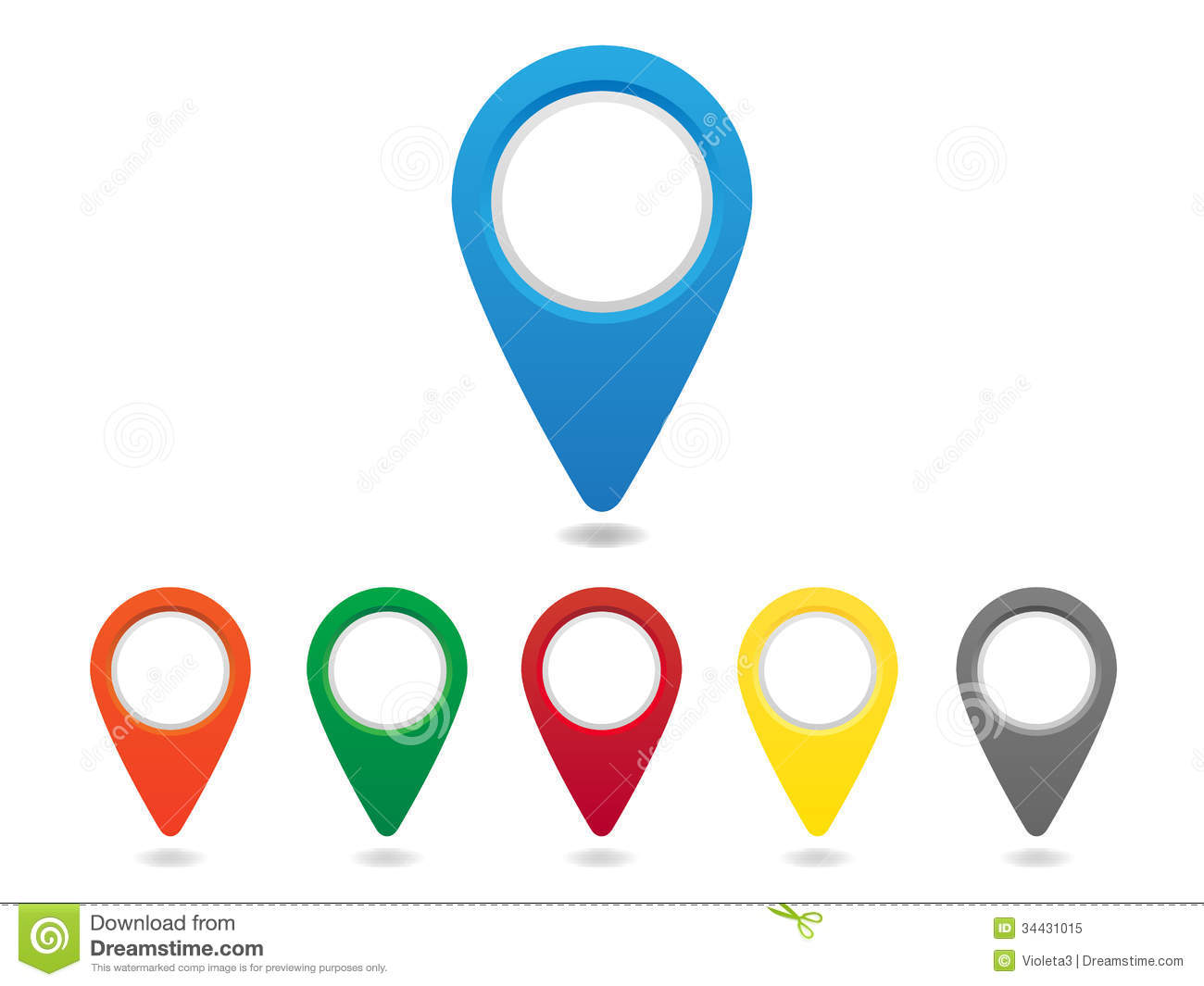 Pin Location Map Free Vector Graphic On Pixabay: Map Pins Set Royalty Free Stock Photo