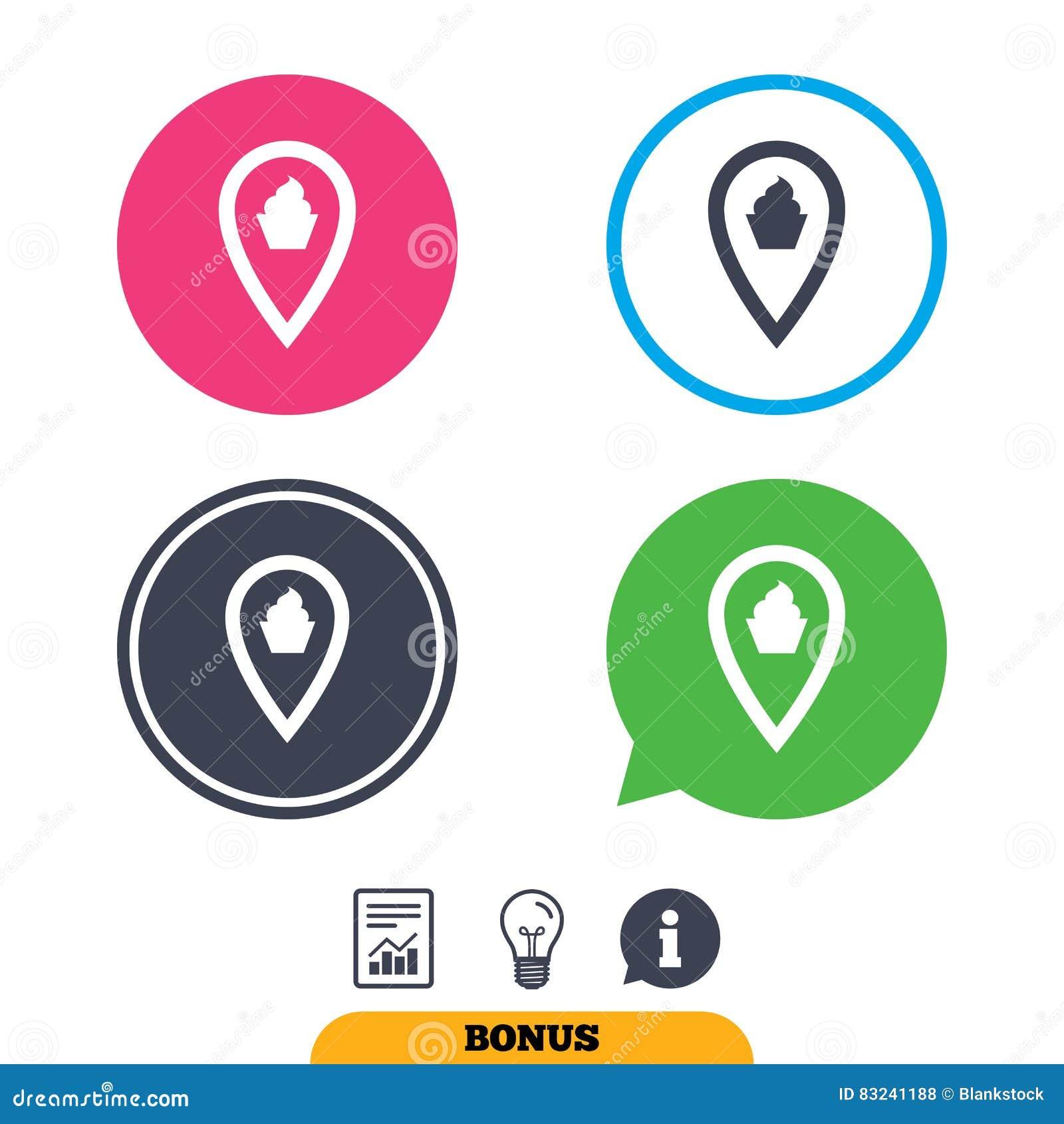 Map Pointer Food Sign Icon. Marker Symbol. Stock Vector ... on mod symbols, power symbols, crane symbols, sport symbols, baltimore symbols, cd symbols, race symbols, state symbols, real symbols, cook symbols,