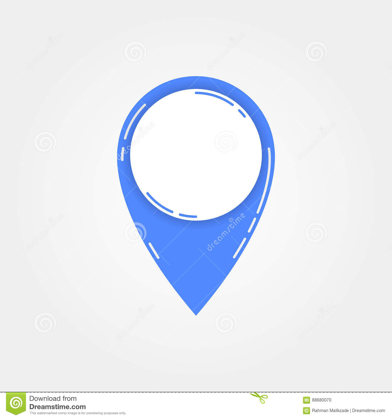 Map Pointer Icon - Blue Vector Stock Vector - Illustration
