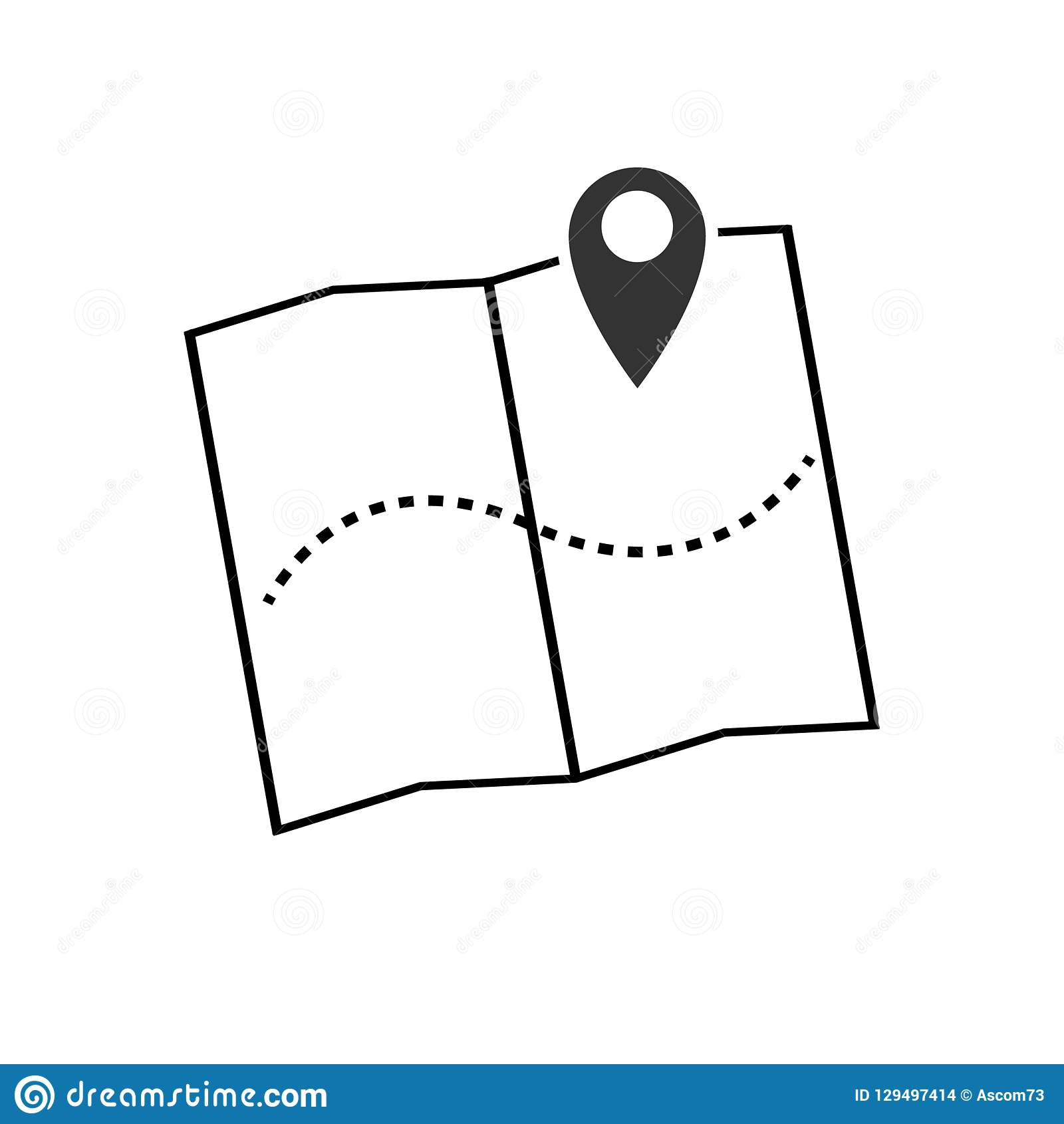 Map pointer icon vector illustration. GPS location symbol with with pin pointer for graphic design, logo, web site, social media,