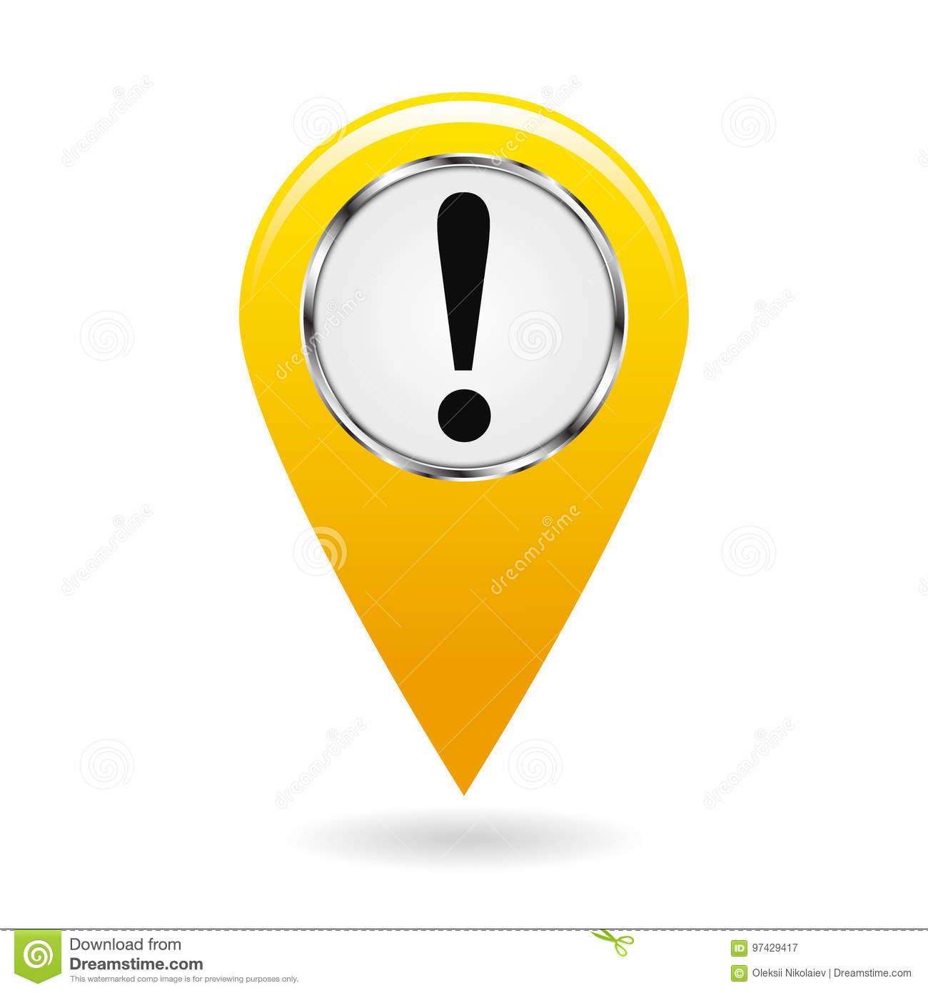 Map Pointer The Pointer Of Important Objects Warning Of Danger On