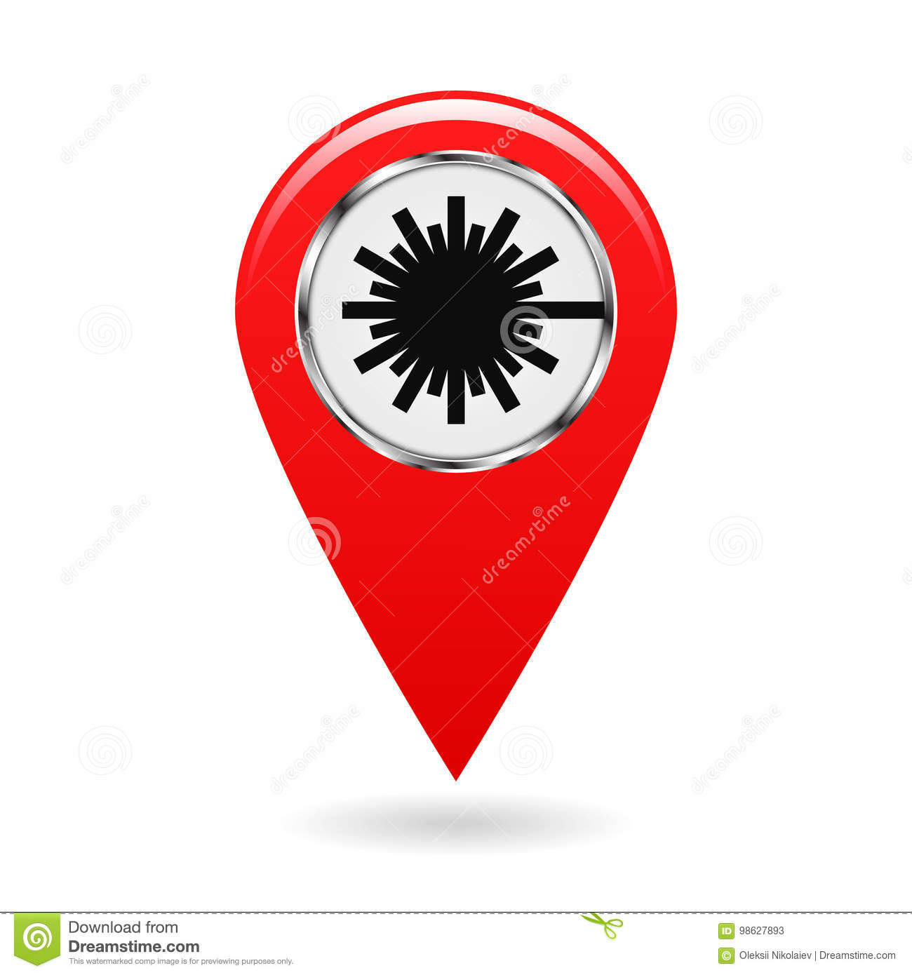 Map Pointer Safety Symbol Index Of Zones With Laser Radiation
