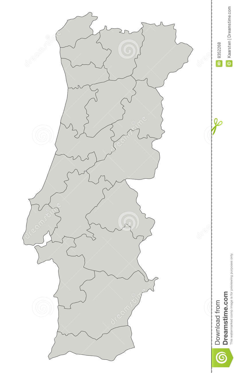 mapa portugal download Map of Portugal stock vector. Illustration of illustration   8352268 mapa portugal download