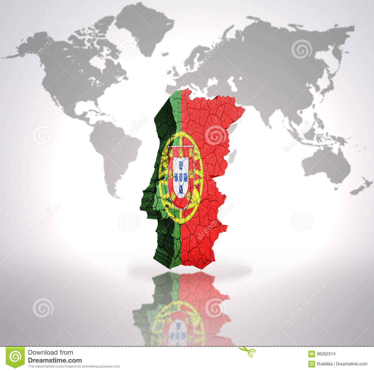 Map of Portugal stock illustration. Illustration of look - 96262514