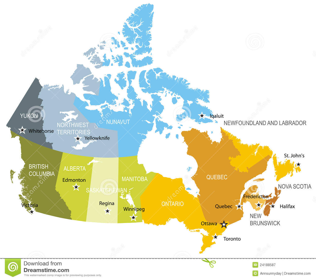 Vector Map Of Canada Royalty Free Stock Photography Image - Map of usa and canada with states and provinces
