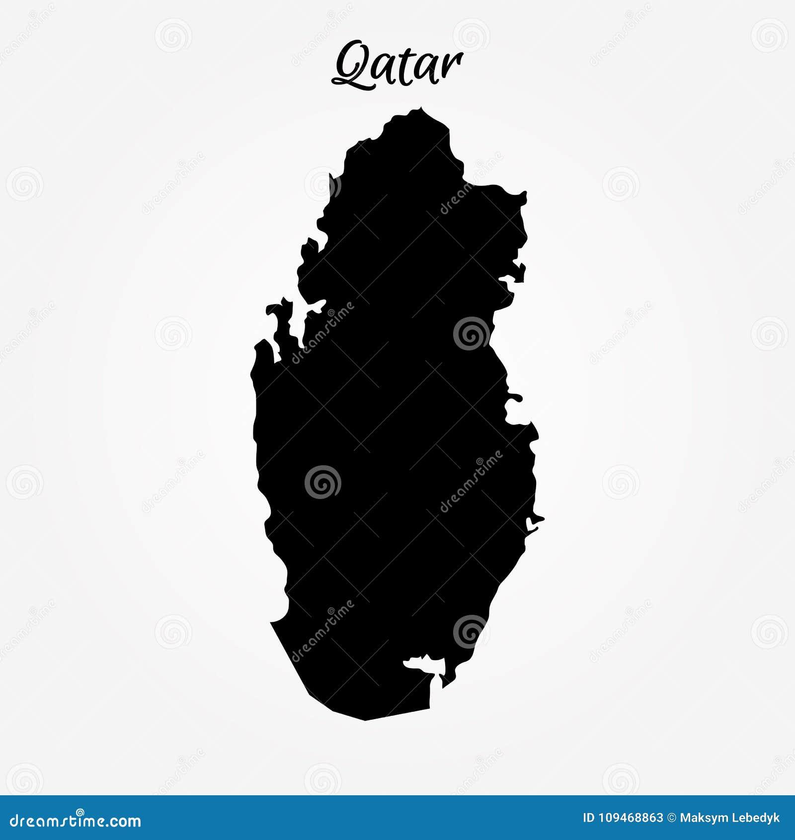 Map of Qatar stock illustration. Illustration of info - 109468863
