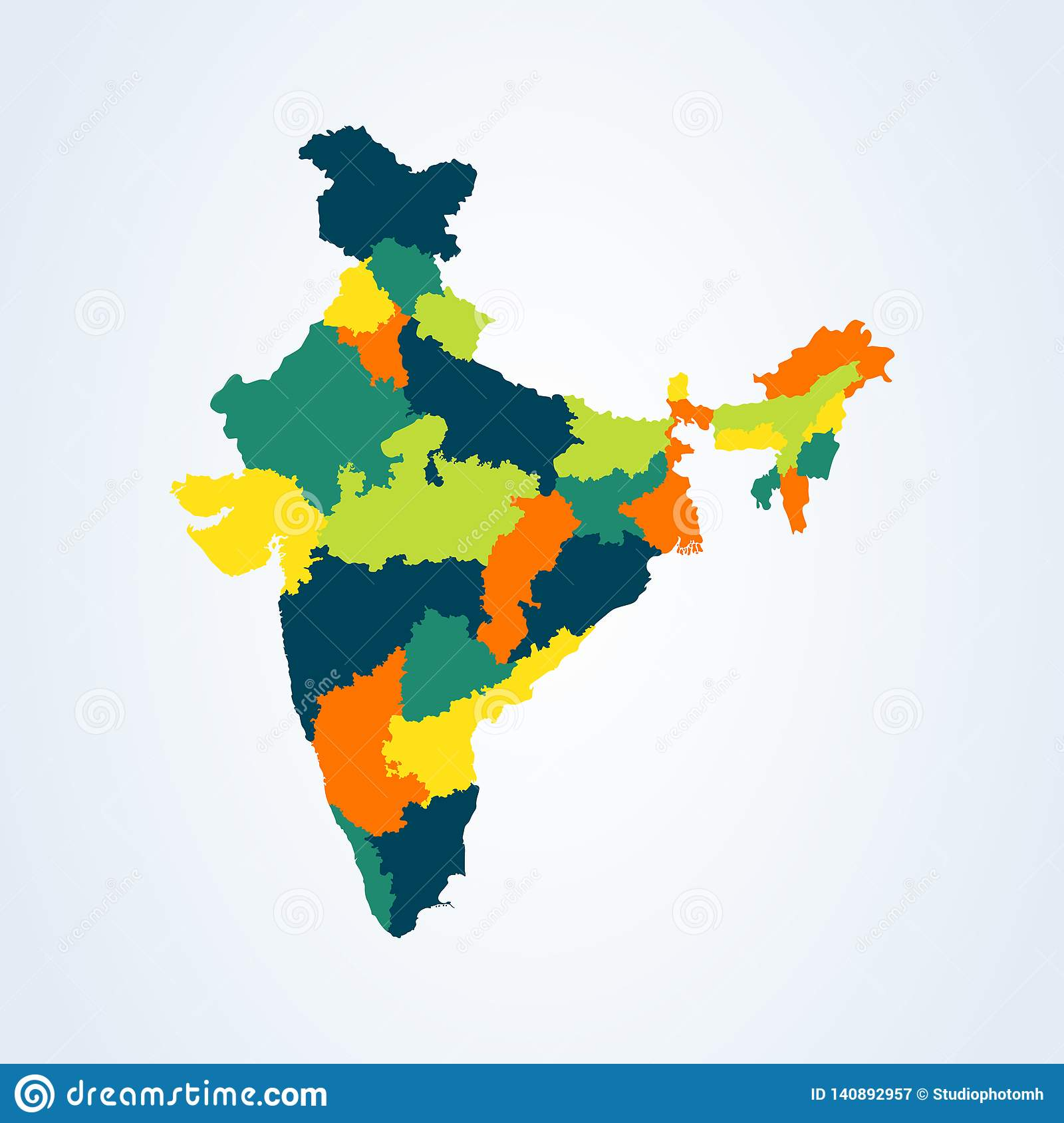 Map Of The Republic Of India With The States Colored Vector ... Image Of Colored Map India on highlighted map of india, abstract map of india, national geographic map of india, world map india, chinese map of india, plain map of india, colors of india, black and white map of india, transparent map of india, colored world map, large map of india, water map of india, labeled map of india, asian map of india, enlarged map of india, small map of india, full map of india, hindu kush map of india, elevation map of india, old map of india,