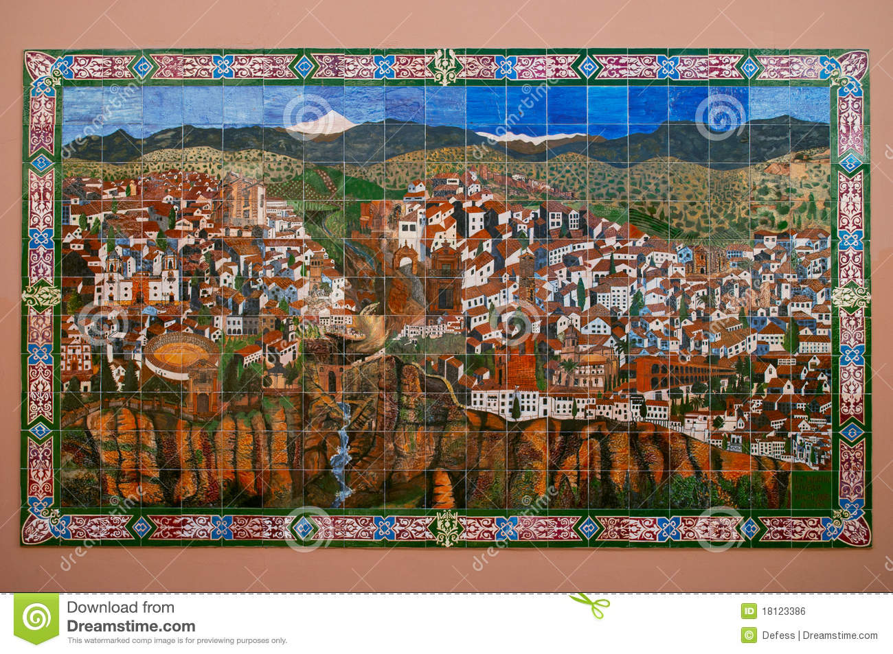 Map Of Rondo Spain Editorial Photo Image Of Culture 18123386