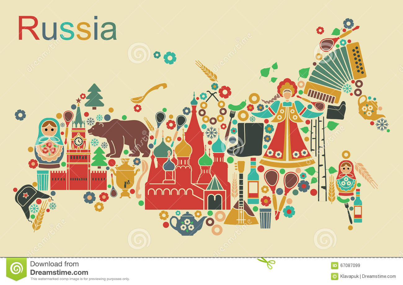 map of russia stock vector image 67087099