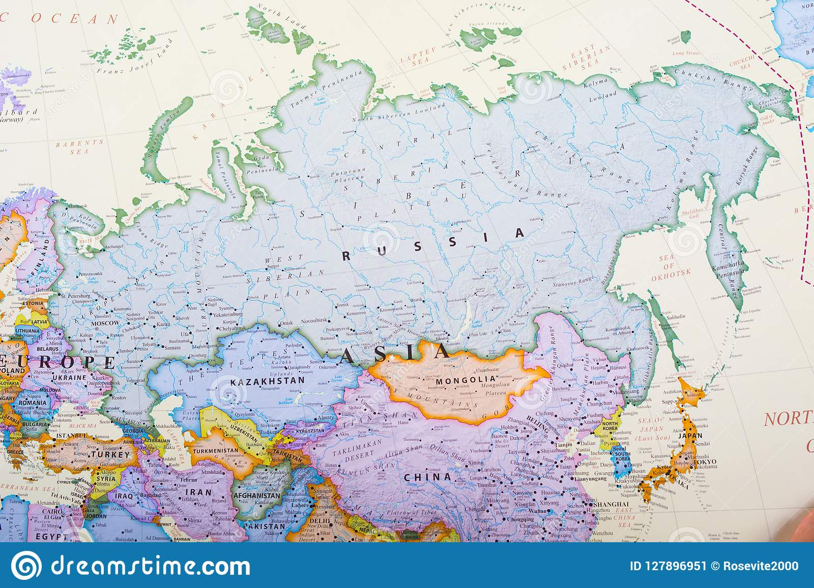 Map of Russia stock image. Image of companies, ballet ...