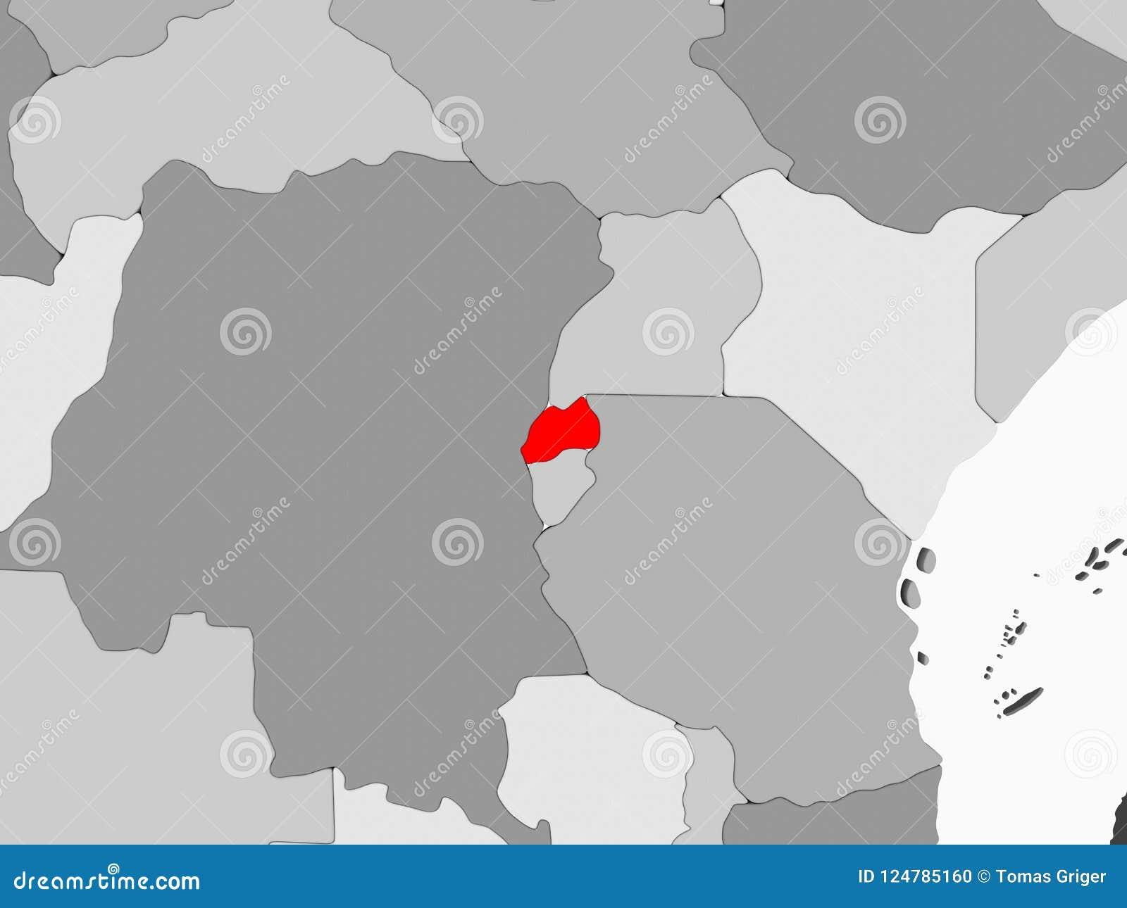 Map of Rwanda stock illustration. Illustration of african   124785160