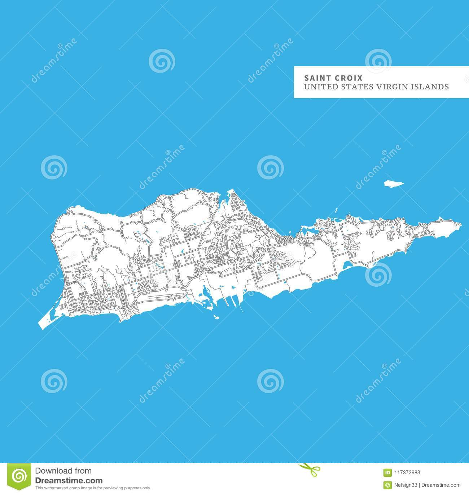 Map of Saint Croix Island stock vector. Illustration of island ...