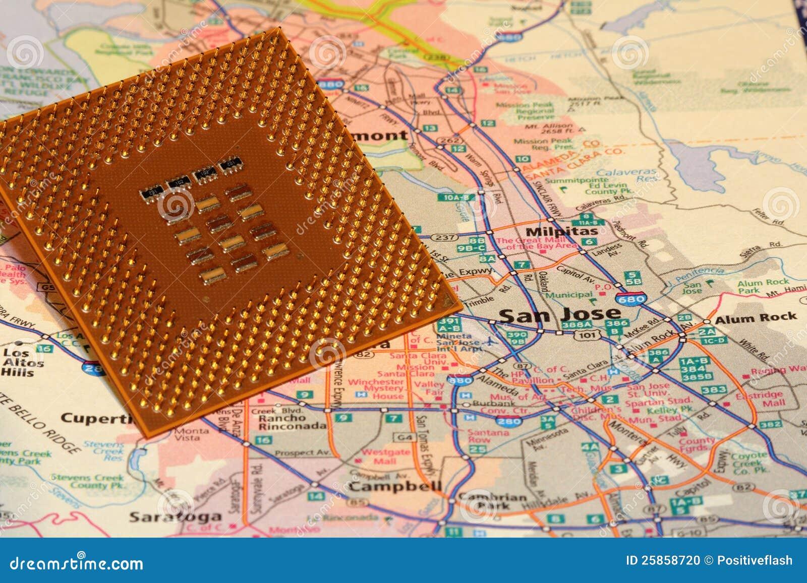 Map San Jose California Silicon Valley Stock Photo Image 25858720