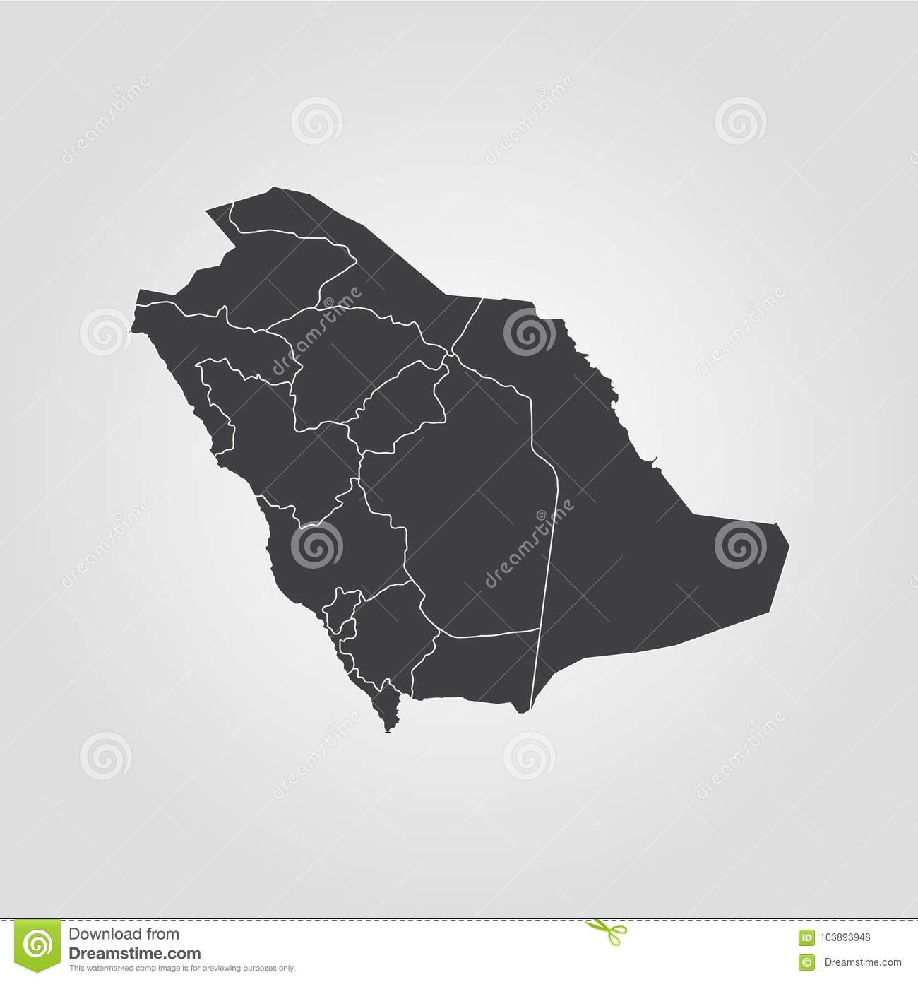 Map of Saudi Arabia stock illustration. Illustration of cartography ...