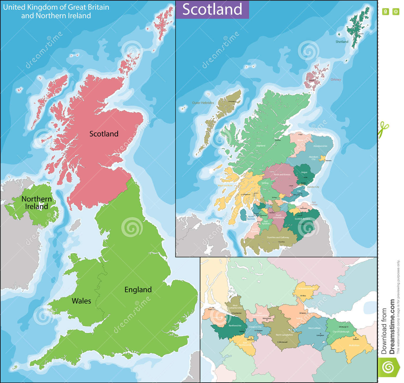 Map of scotland stock vector illustration of atlas glasgow 74694305 download comp gumiabroncs Choice Image
