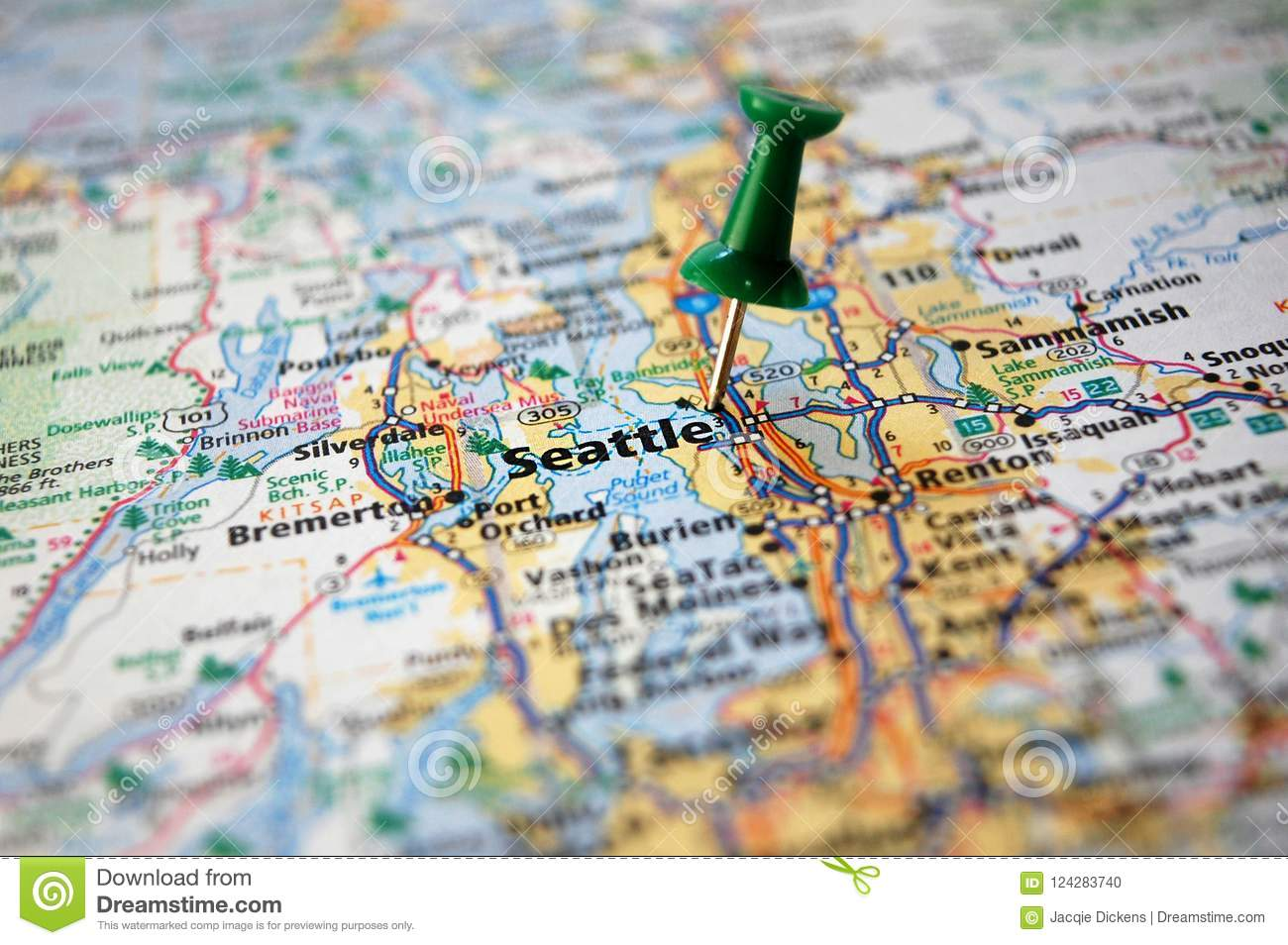 Seattle, Washington stock photo. Image of object, journey - 124283740