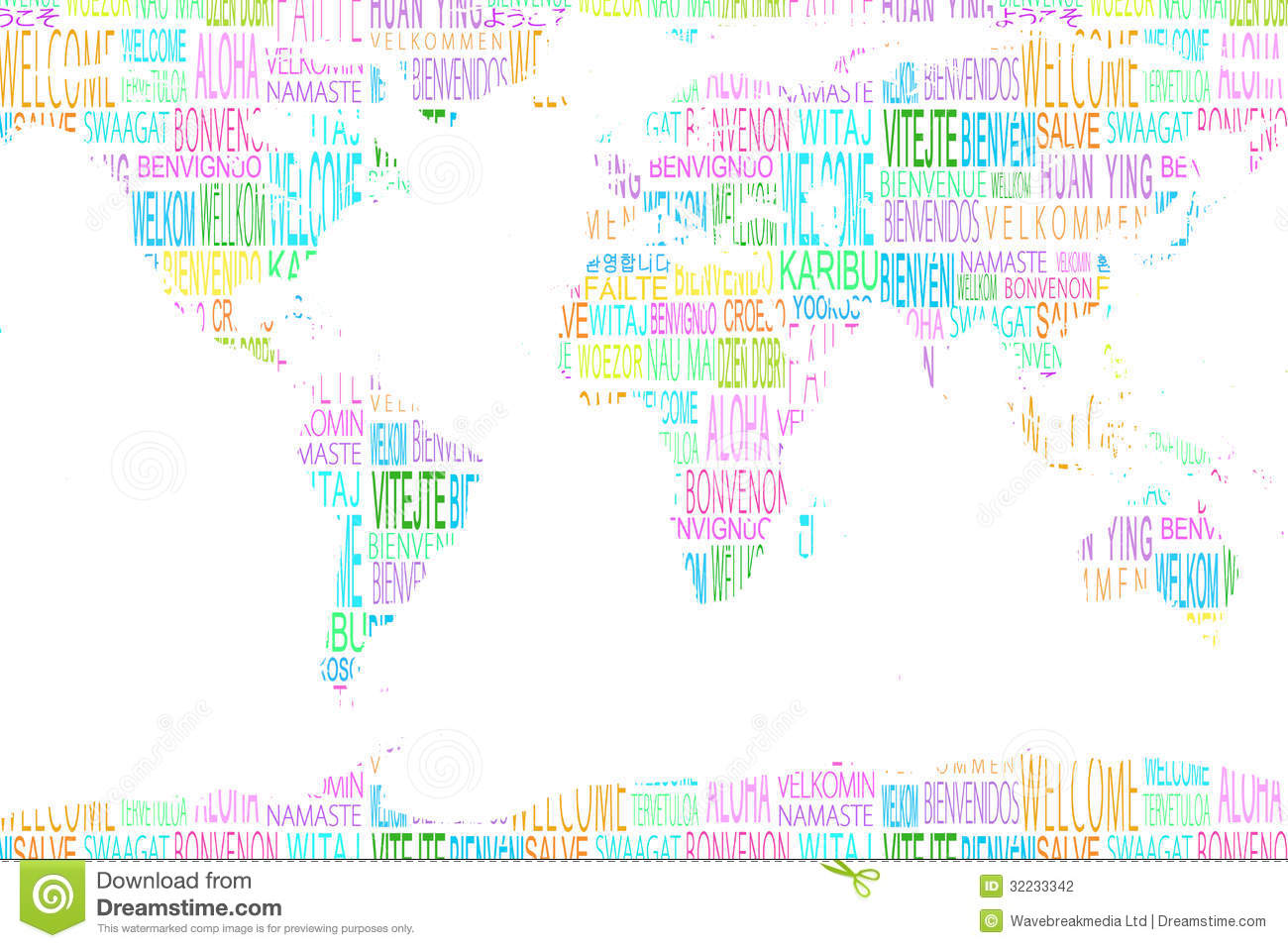 Map showing welcome in different languages stock photo image of map showing welcome in different languages sciox Images