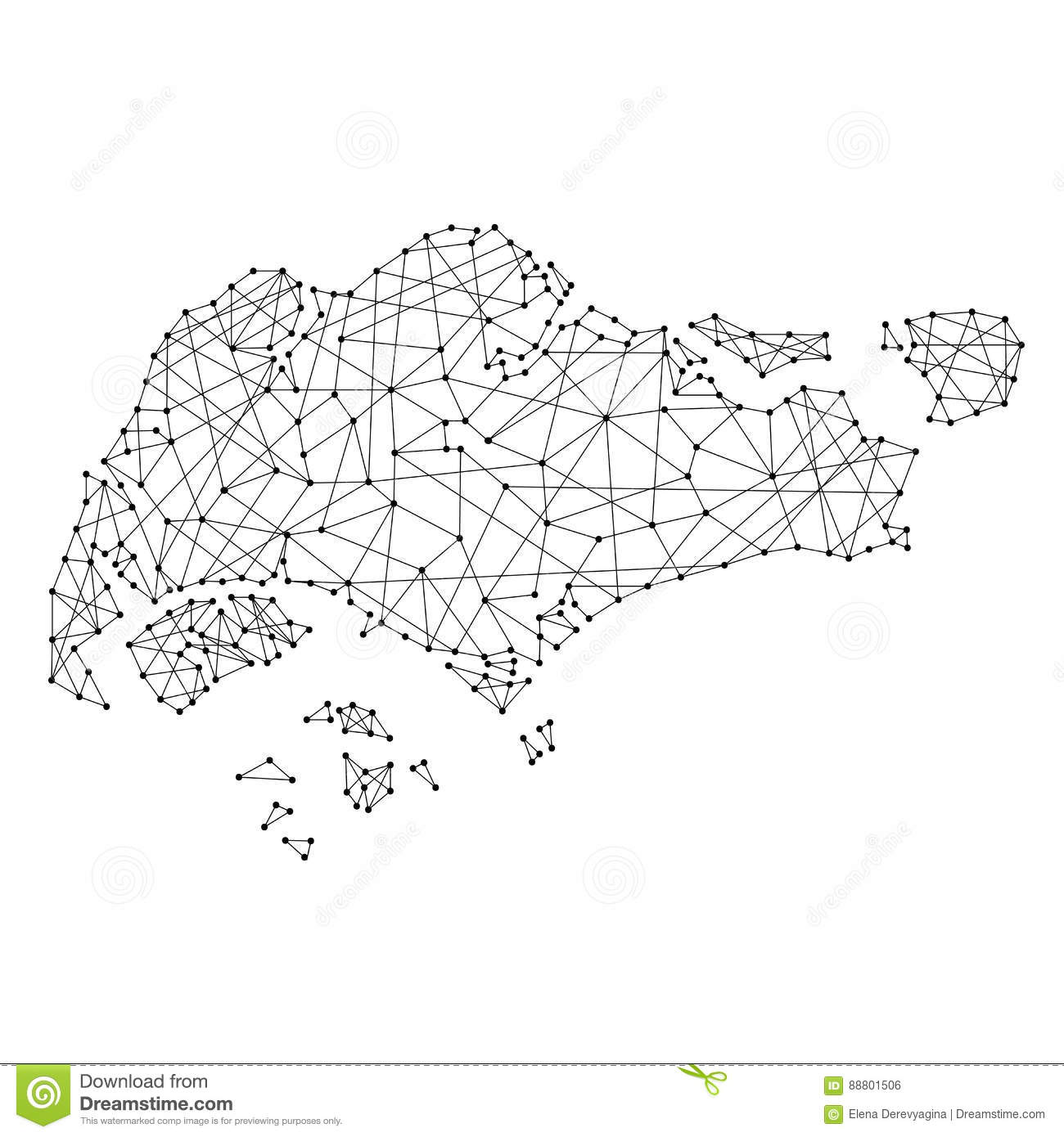 Singapore Map Vector Illustration Stock Photography Image 5134602