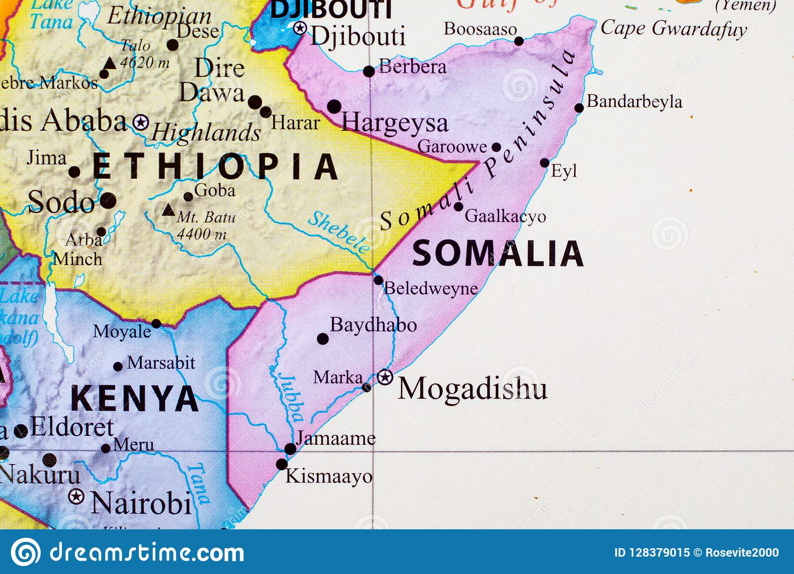 Map of Somalia stock image. Image of somalia, africa - 128379015