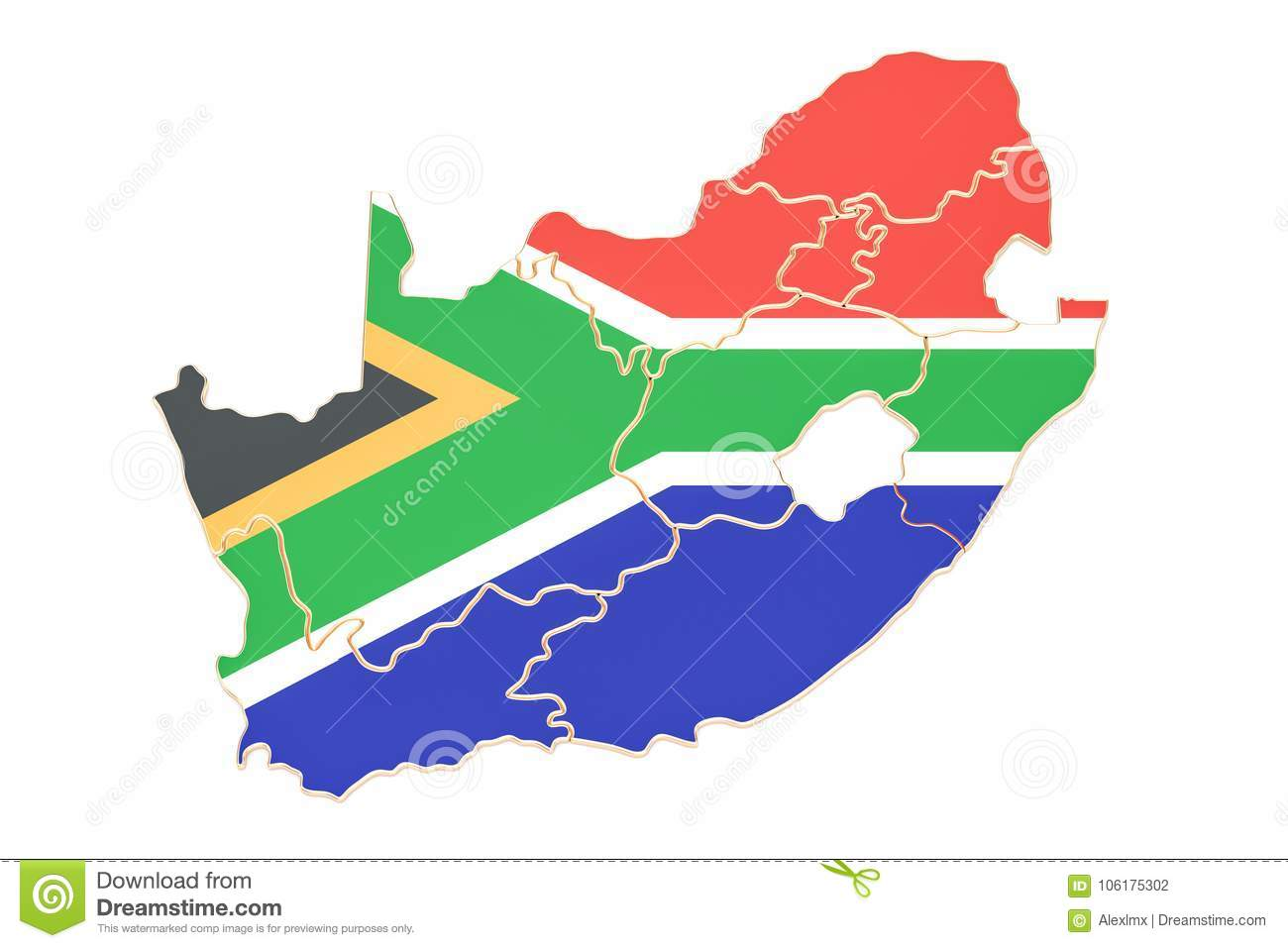 Map of south africa 3d rendering stock illustration illustration map of south africa 3d rendering ccuart Choice Image