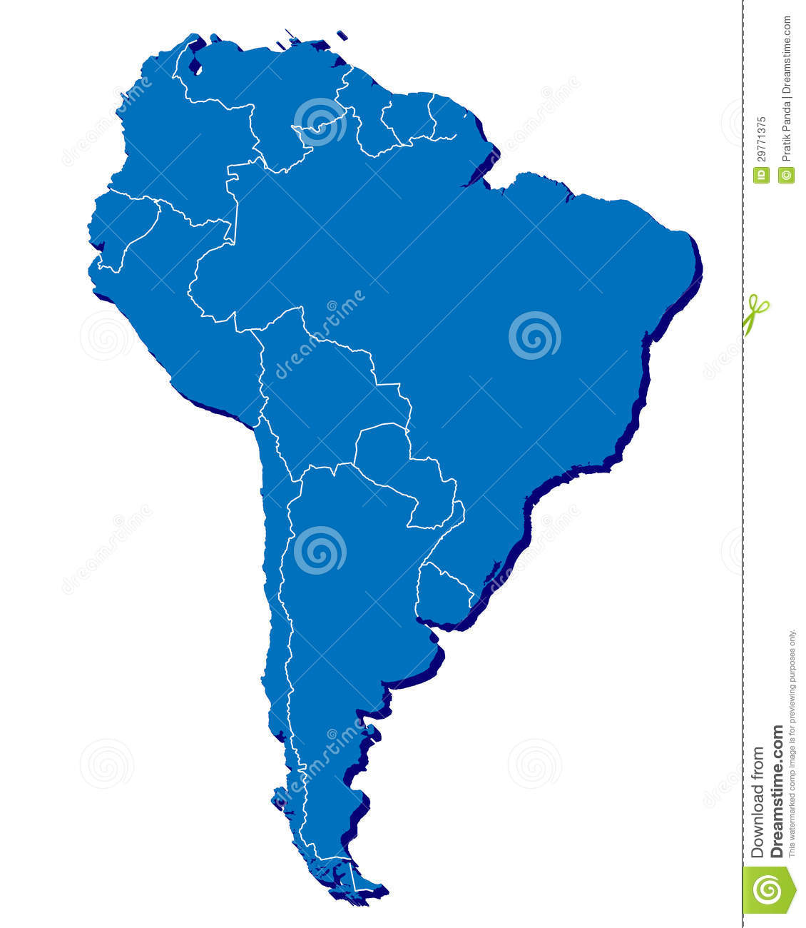 South America Country Outlines Related Keywords  Suggestions - South america map and flags