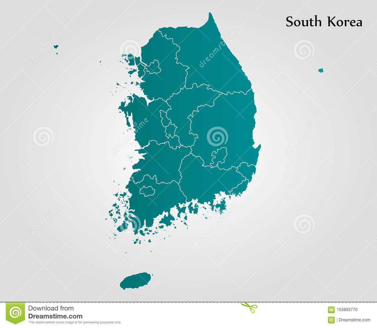 Map Of South Korea Stock Illustration Illustration Of Mapofworld