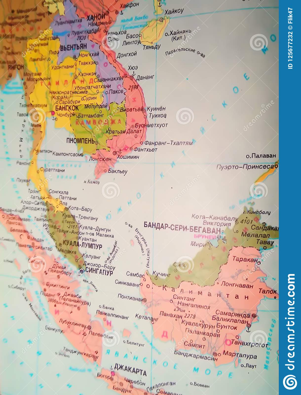 Map of Southeast Asia editorial photography. Image of ...