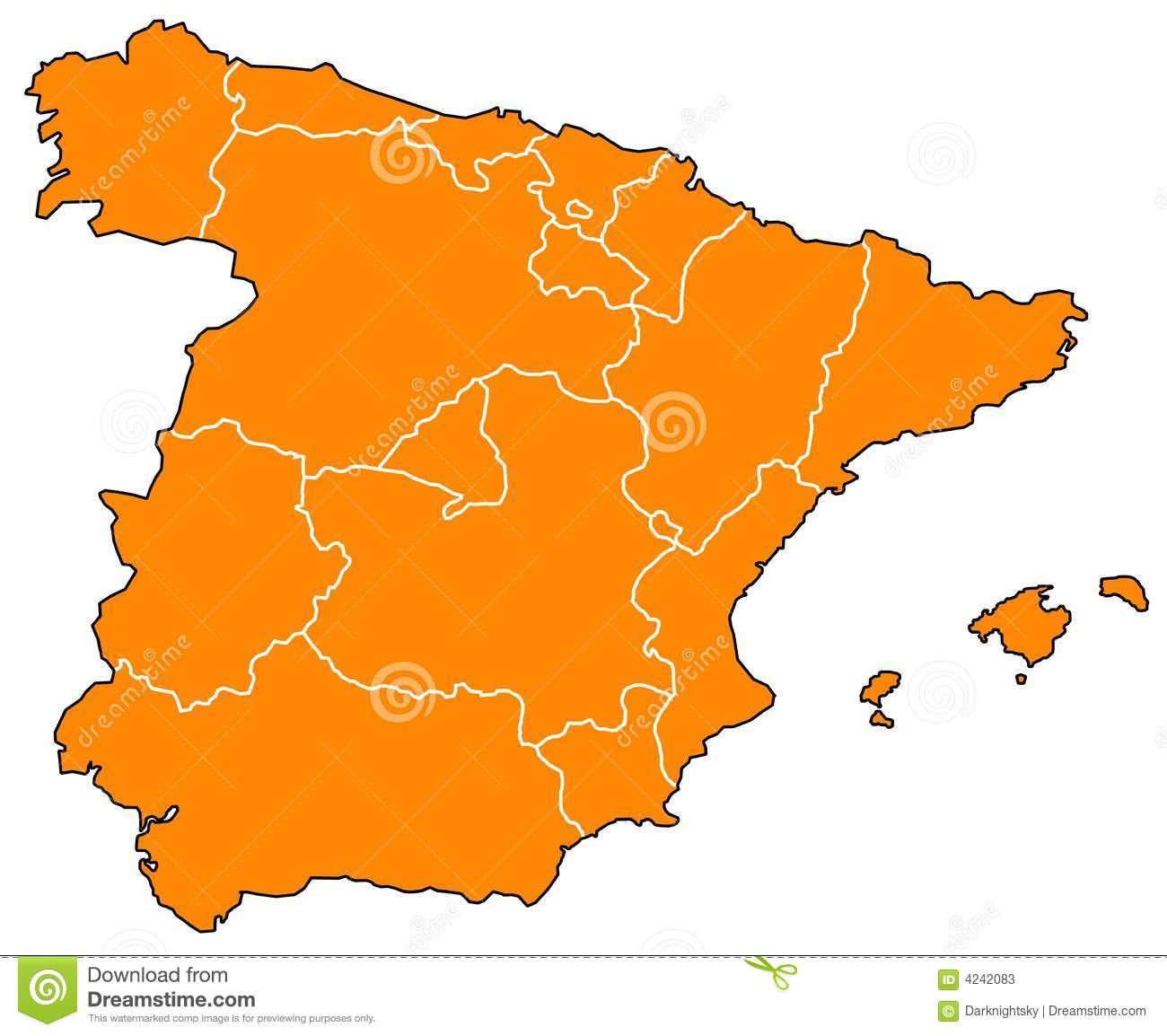 Map Of Spain Download Free.Map Of Spain Stock Illustration Illustration Of Icon 4242083
