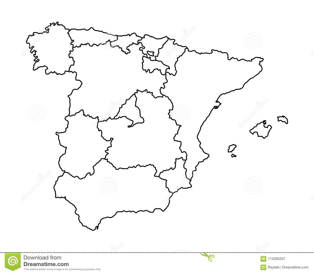 Map Of Spain Download Free.Map Of Spain Stock Illustration Illustration Of Pattern 114295207