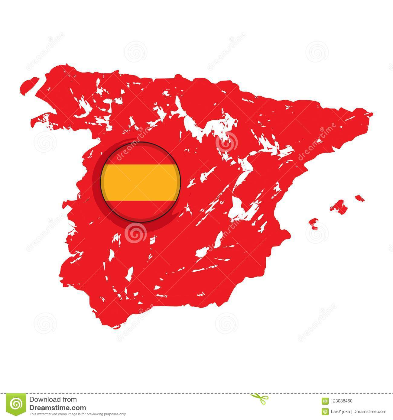 Map Of Spain To Label.Map Of Spain With A Label Stock Vector Illustration Of Isolated