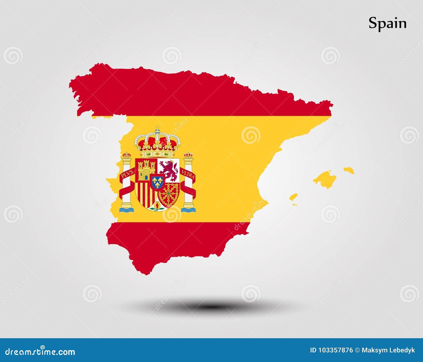 Map of Spain stock illustration. Illustration of earth - 103357876