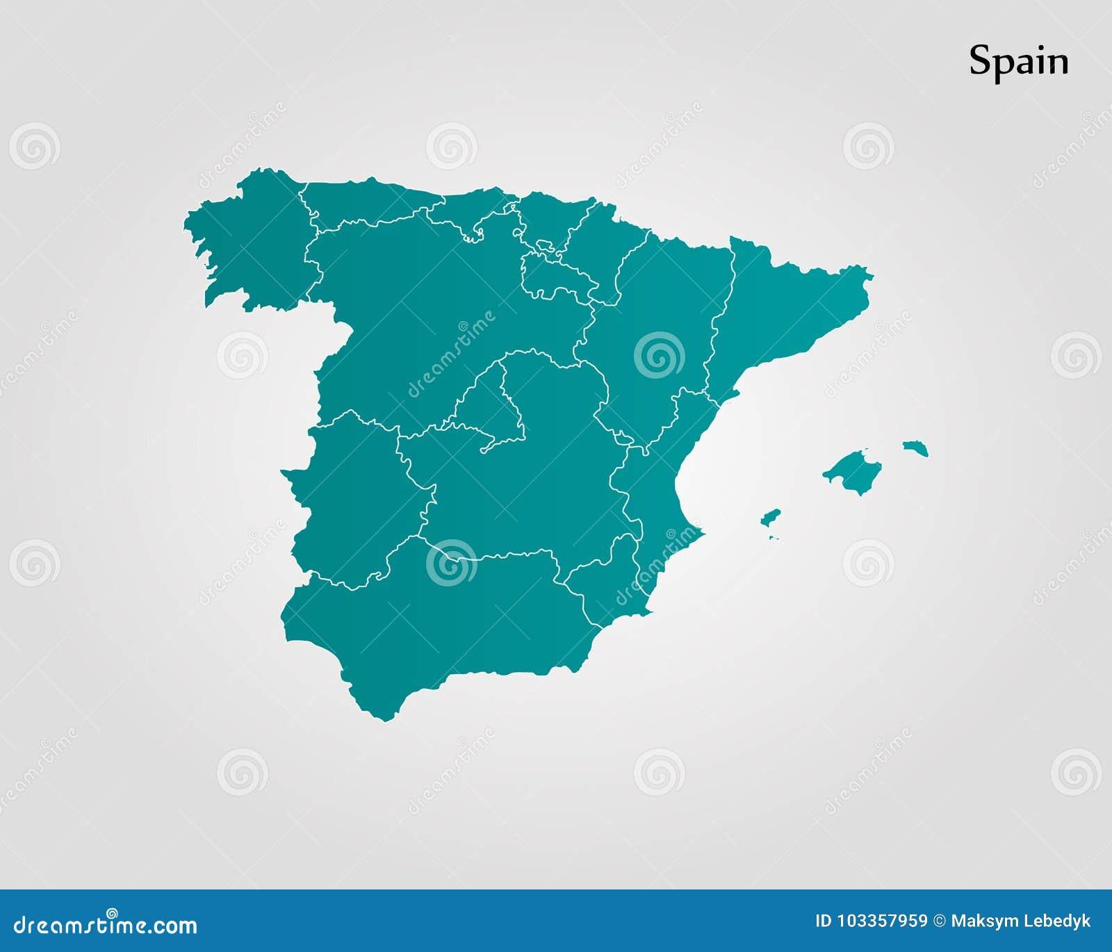 Map Of Spain Stock Illustration Illustration Of Plain 103357959