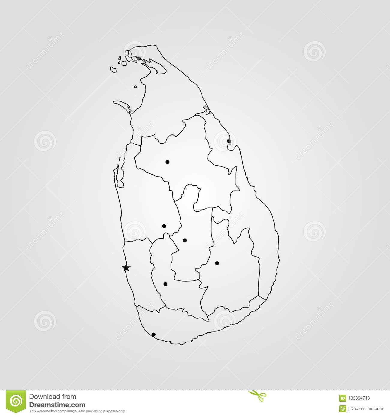 Map Of Sri Lanka Stock Illustration Illustration Of Concept 103894713